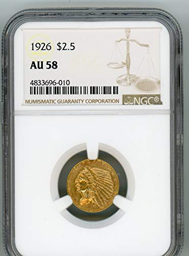 1926 Indian Head Quarter Eagle $2.50 AU-58 NGC