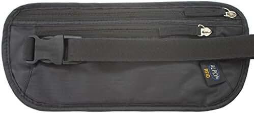 Alpsy Travel Wallet RFID-Blocking Money Belt Secure Waist Pack Pouch