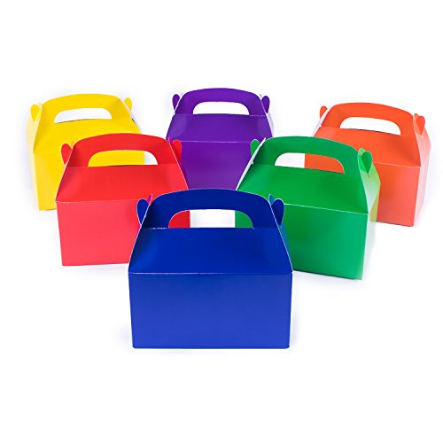 12 Assorted Bright Color Treat Boxes Birthday Party