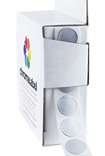 "1/2"" Metallic Silver, Color-Code Dot Labels 