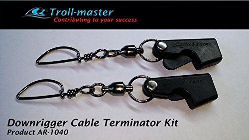 Downrigger Cable Terminator Snap Swivel Hardware Kit (Pair)