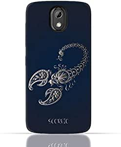 HTC Desire 526 G Plus TPU Silicone Case with Zodiac-Sign-Scorpio Design