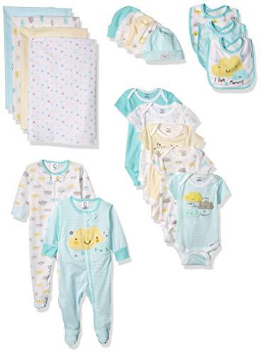 Gift Set Blanket Onesie - Gerber Baby 19-Piece Essentials Gift Set, Clouds, Newborn