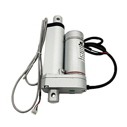 Bringsmart 12V 2 Inch Hall Sensor Electric Linear Actuator with Encoder 900N High Load 5mm/s Stroke 50mm Tubular DC Motor (SR-TGA-Y)