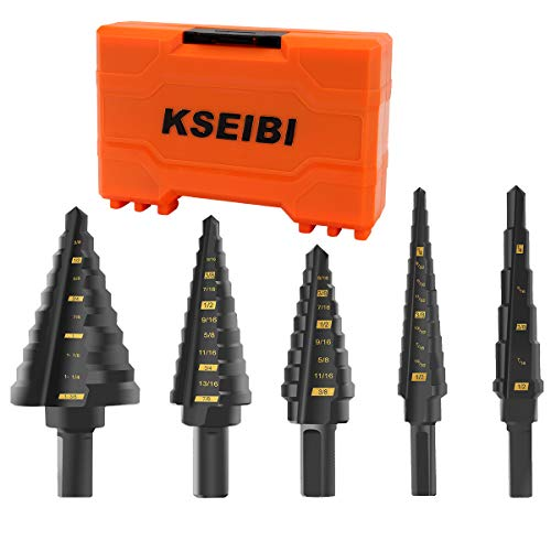5 Mechas Brocas KSEIBI De Acero Óxido M2 50 Tamaños 3mm/25mm