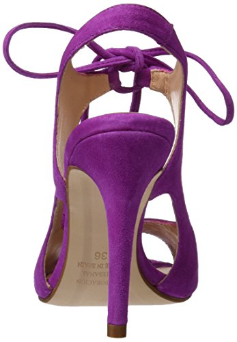 PEDRO MIRALLES 19316, Sandalias con Tira de Tobillo para Mujer Morado (Viola)