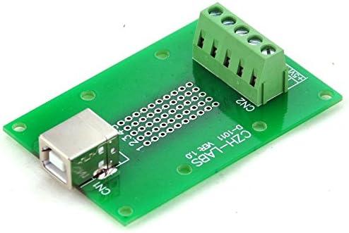 bloc Terminal connecteur. Electronics-Salon USB Type B femelle /à angle droit Jack Breakout Board