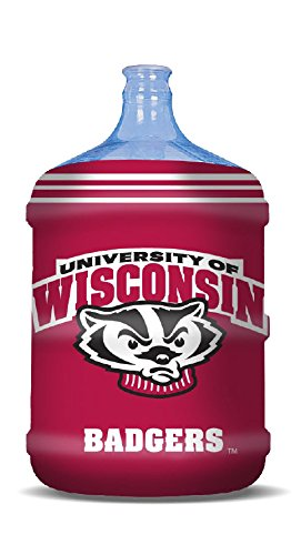 NCAA Wisconsin Badgers Propane Tank Cover/5 Gal. Water Cooler Cover, Red (Wisconsin Pad Grill)
