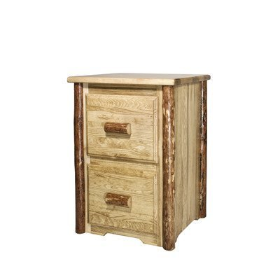 Montana Wood Cabinet - Montana Woodworks MWGCFC2 Glacier Country Collection 2-Drawer File Cabinet