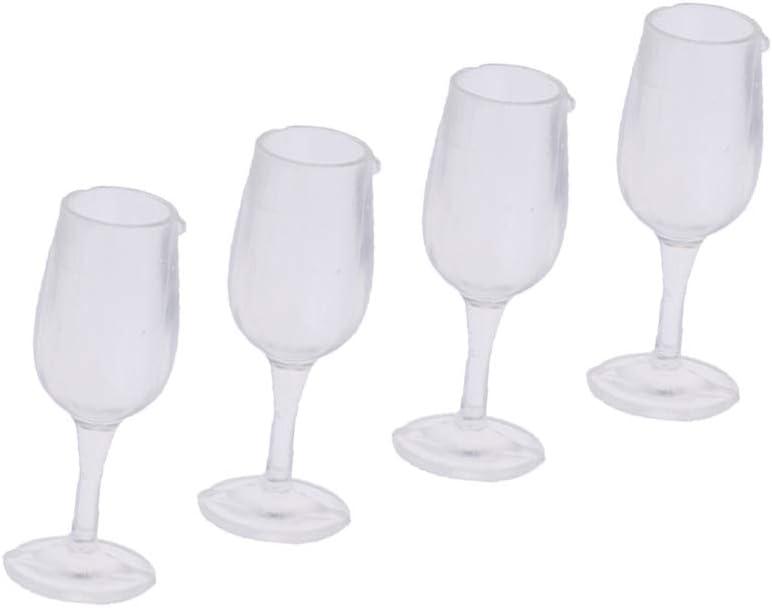 1//12 Dolls House Miniature da tavola 8pcs Cup Calice Bicchiere da vino