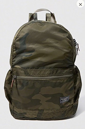 ABERCROMBIE PACKABLE BACKPACK OLIVE GREEN CAMO PRINT - SOLD OUT (Tote Bags Hollister)