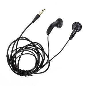 Apolok ABLK-BS400 plástico en la oreja los auriculares de 3,5 mm Plug Negro Blanco.