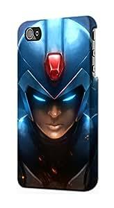 E1365 Mega Man Funda Carcasa Case para IPHONE 4 4S