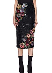 Floral Sequin Skirt