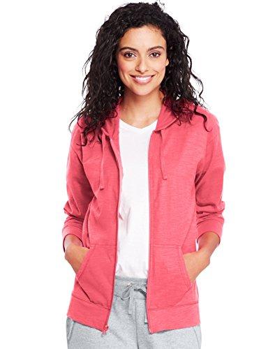 Hanes by Womens Slub Jersey Hoodie O9249_Briny Pink_S ()