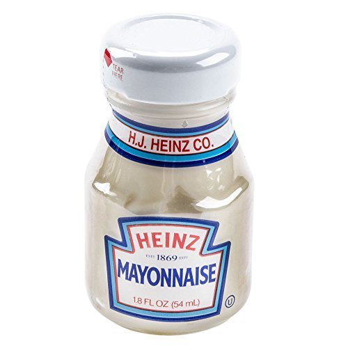 Heinz Mayonnaise Mini Glass Bottles - Case of 60 (1.8 Oz. / 54 Ml.) by Heinz