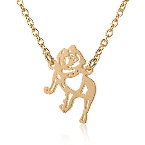 French Bulldog Necklace Best Friend Dog - Pet Charm Jewelry 18K Gold