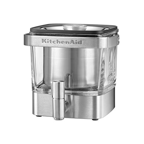 Urn Brewing System - KitchenAid KCM4212SX Cold Brew Coffee Maker-Brushed Stainless Steel, 28 ounce,