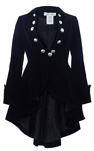 CS -The Velvet Wine Waterfall- Victorian Gothic Ruffle Style Jacket-USA Stock! (P28, (London Business School Halloween Party)
