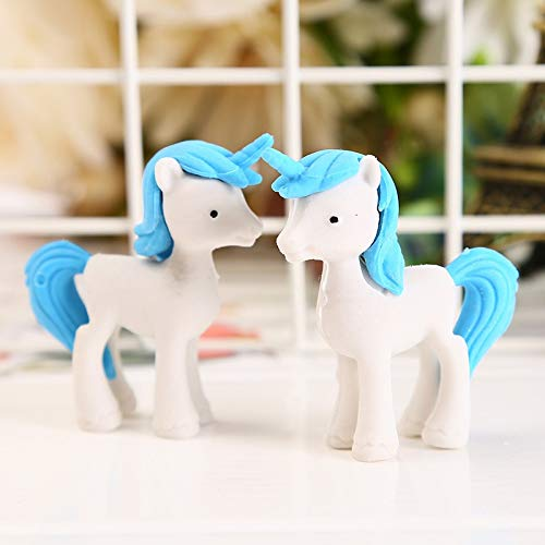 Mustwell 3pcs/Lot Unicorn Eraser Novelty Trojan Horse Erasers For Correction Kids Learning Tools Stationery Office School Supplies by Mustwell (Image #3)