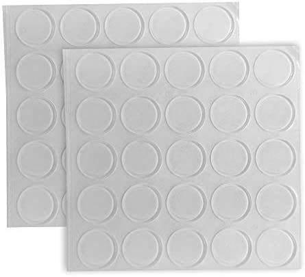 50Pcs Clear Self-adhesive Sound Dampening Rubber Bumpers Pads for Silencing C...