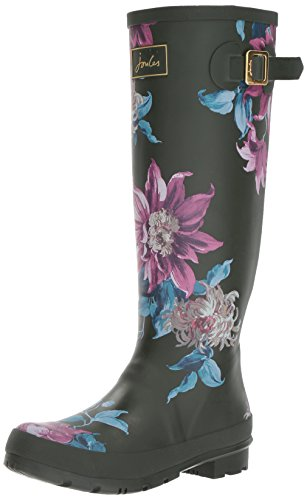 Green Botas Olive Mujer Agua Clematis Print Welly Joule de Tom qawFZBp6xq
