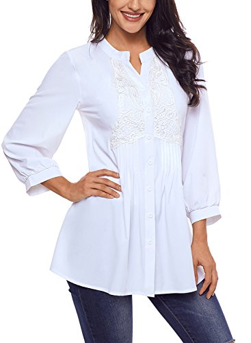 Astylish Womens Sleeve Button Blouse