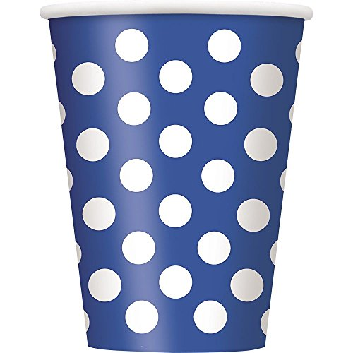 Blue Dots 12oz Cups (6 Pack) - Party Supplies