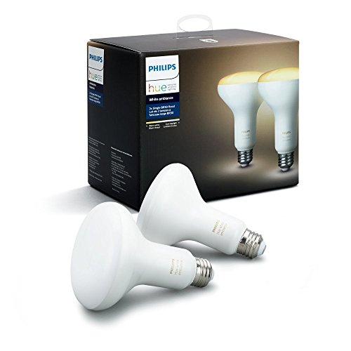Philips Hue 2-Pack White Ambiance BR30 60W Equivalent Dimmable LED (Large Image)