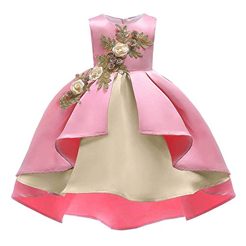 Flower Little Big Girls Lace Bridesmaid Dress Kids Wedding Party Birthday Pageant Toddler Princess Formal -