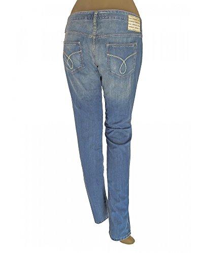 Klein Donna Ricamato Effetto Delave Jeans Logo Calvin zqBcEdz