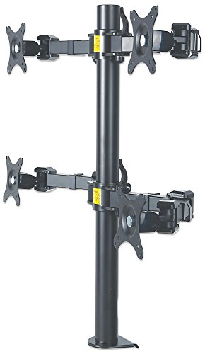 Arm Triple Swing Adjustable Lcd (ICI461122 - MANHATTAN 461122 LCD Monitor Mount with Double-Link Swing Arms (Supports 4 Monitors))