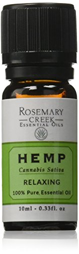 Rosemary Creek Hemp Essential Oil From Cannabis Sativa Plant  0 33 Fl  Oz