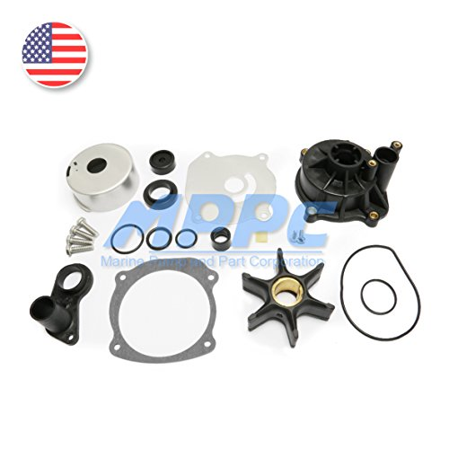 Water Pump Repair Kit With Housing for Johnson Evinrude V4 V6 V8 85-300HP Outboard Motor Parts Impeller Replacement 5001594 (Parts Johnson Evinrude)