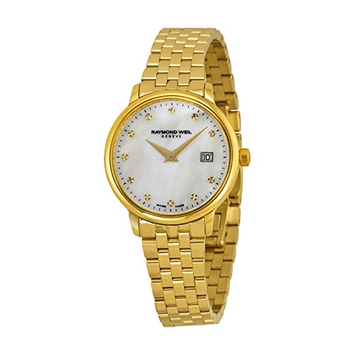 Raymond Weil White Bracelet - Raymond Weil Women's 'Toccata' Quartz Stainless Steel Dress Watch, Color:Gold-Toned (Model: 5988-P-97081)