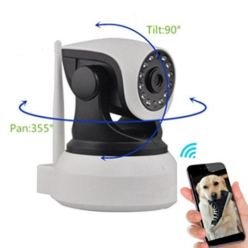 Dog Monitor - Camera Monitor- Check On Your Pet From Anywhere Any Time Pan Tilt The Camera From Your Smart Phone Dog Cameras With Phone App Two Way Audio HD Indoor Wifi IP Camera 2.4ghz Not 5g (Best Phone Out Today)