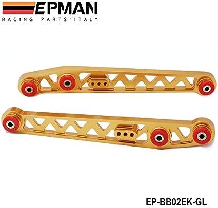 GOLD LCA REAR LOWER CONTROL ARM 96-00 HONDA CIVIC EK CNC LIGHT WEIGHT ALUMINUM