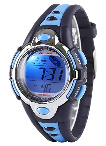 - Kid Watch Multi Function Digital LED Sport 50M Waterproof Electronic Digital Watches for Boy Girl Children Gift Blue