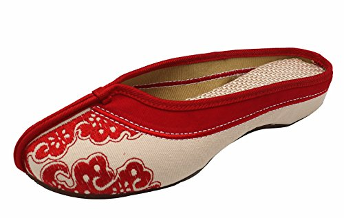 Icegrey Embroidered Clogs Women's Slipper Red Handmade 1O61Pr