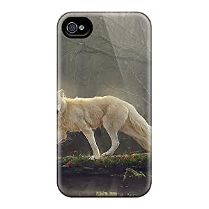 Iphone Case - Tpu Case Protective For Iphone 4/4s- Beautiful White Wolf