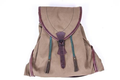 Rucksack, weichen grün Leinwand, mit Tasche, exklusives Design
