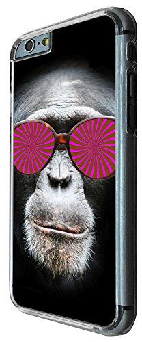 424 - Monkey Hipno Glasses Chimp Design iphone 6 6S 4.7'' Coque Fashion Trend Case Coque Protection Cover plastique et métal
