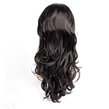 Ty.Hermenlisa 28inches 195g Long Wavy Layered 3/4 Head Wig One Top Piece Clip in Synthetic Hair Extensions Instant Length Volume Highlight Women Wefts Hairpieces Accessory Dark Brown