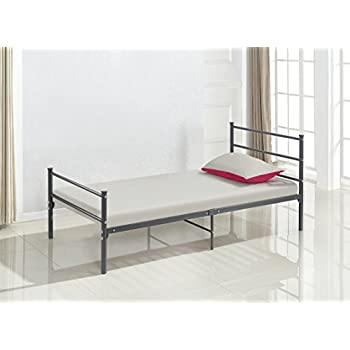 Amazon Com Dark Grey Metal Platform Bed Frame Twin Size
