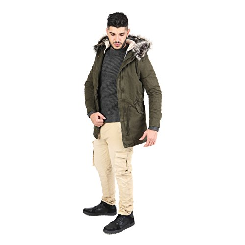 AFF - Men's Hooded Coat with fur - AFU203