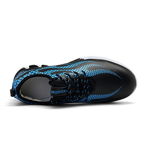 GOMNEAR Running Shoes Men Non-Slip Breathable Athletic Fashion Lightweight Sport Fitness Walking Trainers Blue OE24qvz