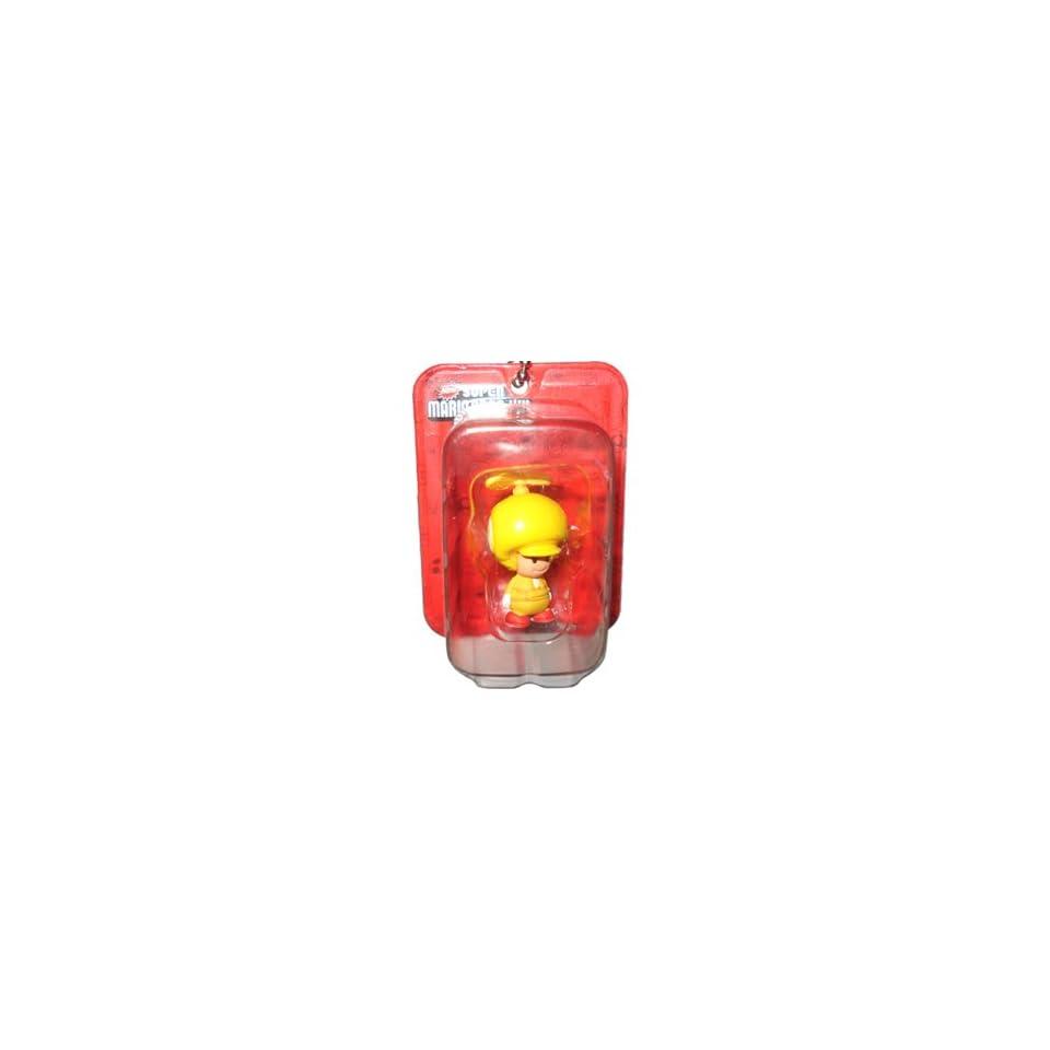 Propeller Toad Yellow Figure   New Super Mario Bros. Wii Mini Blister Collection Takara Tomy Nintendo