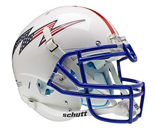 Schutt NCAA US Air Force Falcons Collectible On-Field Authentic Football Helmet, White Alt. 3