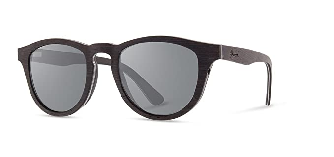 ea440128c07f Amazon.com  Shwood - Francis Round Wood Sunglasses - Dark Walnut ...