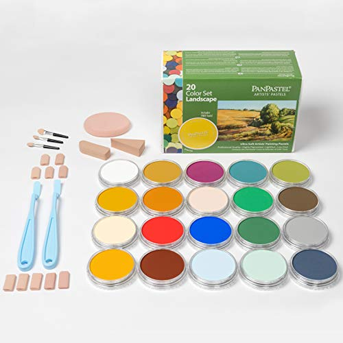 PanPastel 30202 Ultra Soft Artist Pastel 20 Color Set - Landscape w/Sofft Tools